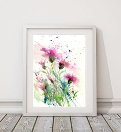 Limited edition print 'Knapweeds'from an original watercolour by Jen Buckley
