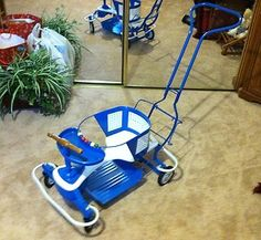 1940s Baby High Chair Convertible To Low Chair On Wheels