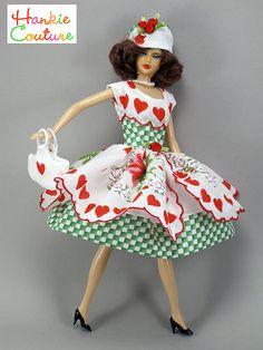 Valentine Hearts Doll Dress Hat Purse Fits Barbie Silkstone by Hankie Couture   eBay