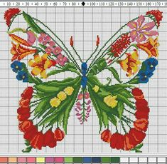 Wonderful Ribbon Embroidery Flowers by Hand Ideas. Enchanting Ribbon Embroidery Flowers by Hand Ideas. Counted Cross Stitch Patterns, Cross Stitch Charts, Cross Stitch Designs, Cross Stitch Embroidery, Embroidery Patterns, Butterfly Cross Stitch, Cross Stitch Flowers, Cross Stitch Animals, Silk Ribbon Embroidery