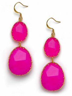 Hot Pink Earring Necklace Earrings Love Pretty In