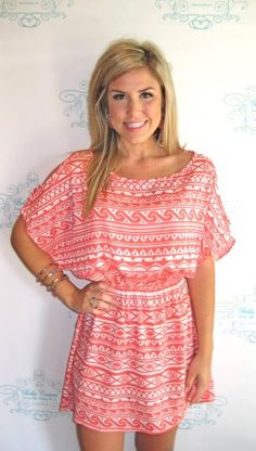 Pink Aztec Print Dress- luv this dress!