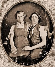 The 1840s - Love the hair, shirts, and vest. The romantic look. Men always look well in a shirt and vest.