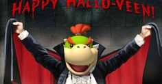 Happy Halloveen from Bowser Jr....Who's going to drink a human's blood!