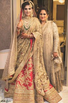 Red Gold Bridal Lehenga With Double Dupatta Pakistani Wedding Outfits, Indian Bridal Lehenga, Pakistani Wedding Dresses, Bridal Outfits, Indian Dresses, Bridal Lenghas, Wedding Lehanga, Pakistani Lehenga, Walima Dress