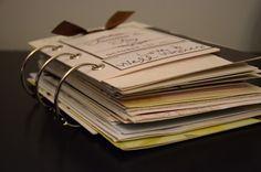Wedding card book! Great idea.