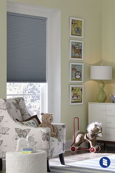 Cordless Cellular Shades give you sleek style, come in 100s of colors and are a safer choice for children's rooms.