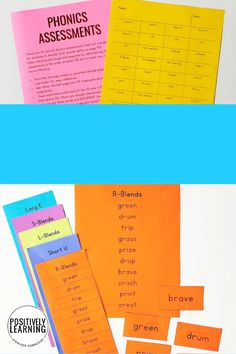 Progress monitoring is easy with these phonics lists! There are words lists that follow a K-2 phonics scope and sequence. Add these to your weekly word work, small groups and centers, and for quick data tracking. This entire kit keeps your phonics program organized!