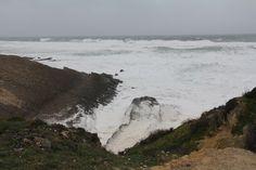 O dia em que o mar destruiu a Praia da Cresmina, Guincho, fev 2014
