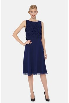 Brides.com: 77 Mother-of-the-Bride Dresses You Can Buy Right Now  Lace panel sleeveless dress, $199, Alex Evenings available at Lord & TaylorPhoto: Courtesy of Lord & Taylor