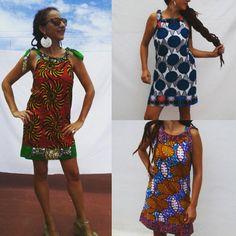 African wax-print dresses, summer dresses $52USD IssaHamissa