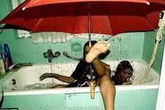Looks like dancing in the rain;-)