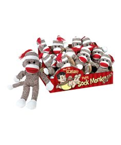 Flying Sock Monkey Toy - love this!