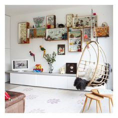 White living room | Living room feature wall | housetohome.co.uk ❤ liked on Polyvore