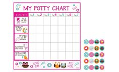 Dry-Erase Potty Chart Decals for $9.99!  You'll be ditching the diapers in no time!