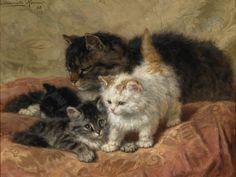 Les trois chatons, 1898,  Henrietta Ronner-Knip, (1821-1909) (hva)