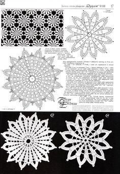 17 Ideas For Crochet Coasters Square Hexagon Pattern Crochet Snowflake Pattern, Crochet Motif Patterns, Crochet Stars, Crochet Snowflakes, Hexagon Pattern, Crochet Designs, Crochet Stitches, Crochet Tablecloth, Crochet Doilies