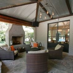 Corrugated Ceiling with beams