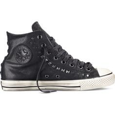 new style 235c4 8fca0 Converse by John Varvatos Studded – black Sneakers ( 200) ❤ liked on  Polyvore Black