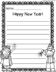 FREE New Year's writing paper - use it to have kids plan out goals for the coming year, write new year's resolutions, etc. Pin for later! how to write an abstract for a research paper, how to write a reaction paper, how to write a scientific paper, how to write a conclusion for a research paper
