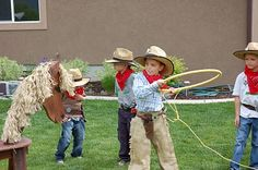 restlessrisa: Cowboy Party Games ~ Hula.Hoop Attached to Rope