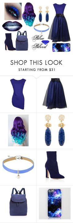 """""""Blue Blood"""" by pixie-dust4you ❤ liked on Polyvore featuring Barbour International, Majorica, Gianvito Rossi, State and Blue"""