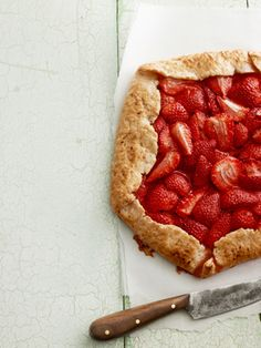 Light and fresh Strawberry Galette #recipes