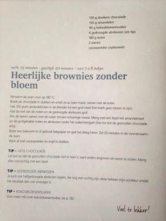 Brownies zonder bloem