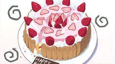 Torta panna e fragole per compleanno