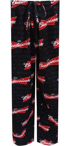 WebUndies.com Budweiser Logo King Of Beers Big And Tall Lounge Pants, S-6X