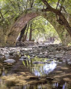 The magical medieval Kelefos bridge high in the Troodos Mountains of Cyprus. Cyprus, Daydream, Venetian, Bridges, Abandoned, Medieval, Waterfall, Places To Visit, Environment