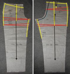 Stitches and Seams: Alterations: X-Wrinkles Wedge Adjustments (Pants) Sewing Pants, Sewing Clothes, Techniques Couture, Sewing Techniques, Sewing Tutorials, Sewing Projects, Sewing Tips, Clothing Patterns, Sewing Patterns