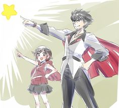 Little Ruby, with her uncle Qrow.                                                                               More