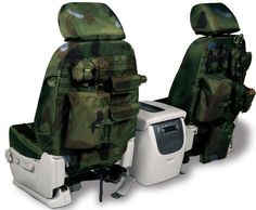 """2003 Toyota Tundra Coverking Tactical Seat Covers - I like the idea of additional storage space in such tight quarters. but I gotta tell you, the idea of a """"tactical"""" seat cover is funny. Tactical Survival, Tactical Gear, Tactical Truck, Molle Gear, Tactical Life, Jeep Jk, Jeep Wrangler, Jeep Truck, Chevy Trucks"""