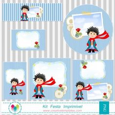 Kit Festa Imprimir - Pequeno Príncipe mod:750