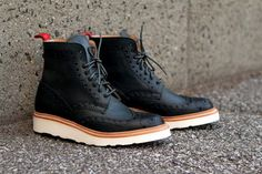 Cool Brogue White Work  Sole Boot