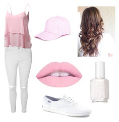 """Pink for BTS"" by cutetumblroutfits on Polyvore featuring Glamorous, Keds, J.TOMSON, Boohoo and Essie"
