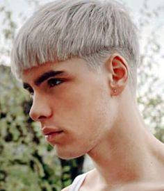 Straight fringe haircut for men