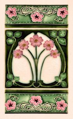 azulejo de estilo Art Nouveau pero creo que hecho ahora