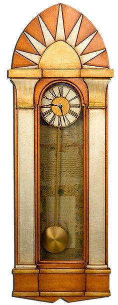 Chamberlain Art Deco Case Clock