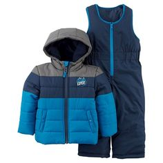 Baby Boys  2pc Snowsuit Blue Grey - Just One You™Made by Carter s f50993c3287e