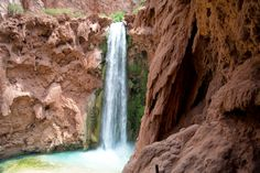 Mooney Falls: Epic Descent to a 200 Foot Waterfall Havasupai Waterfalls, Arizona Waterfalls, Beautiful Person, Most Beautiful, Awake My Soul, Grand Canyon, Earth, Outdoor
