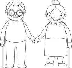 Dzień Babci i Dziadka - Pastelowe Kredki Grandparents Day Crafts, Art For Kids, Crafts For Kids, Doodle People, Cartoons Love, Art N Craft, Bird Art, Doodle Art, Diy Gifts