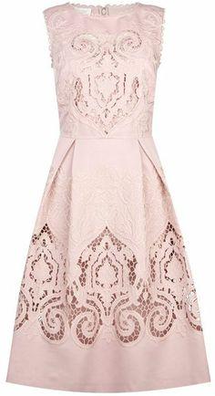 Hobbs Pink Invitation Maida Vale Dress
