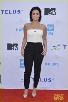 Nina Dobrev & Demi Lovato Hit Up WE Day 2015 in Toronto