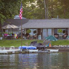 Lake house flag pole