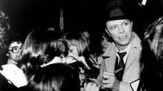 """missadler1897: """"Signing autographs on the set of the Absolute Beginners promo, 1986. """""""