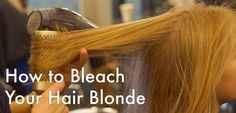 How to strip any preexisting colors from your, then bleach, tone, and restore it.