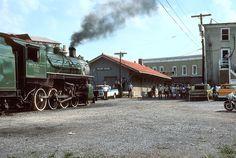 Southern locomotive #722 at the depot in Front Royal, VA.