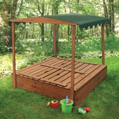 Badger Basket Covered Convertible Cedar Sandbox With Canopy And Two Bench Seats - Sandboxes at Hayneedle
